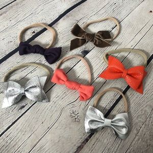 Other - Set of 6 Headband Hair Bows